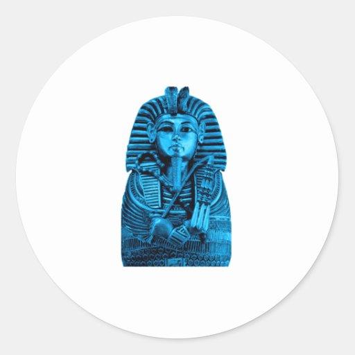 Blue King Tut Sticker