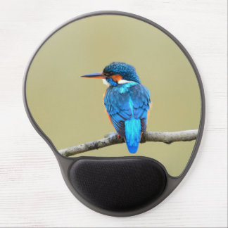 Blue Kingfisher Bird Gel Mouse Pad