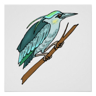 Blue Kingfisher Posters