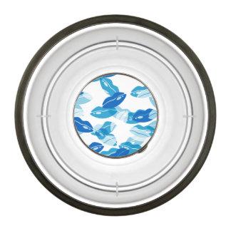 Blue Kiss Love Lips Design Pet Bowl