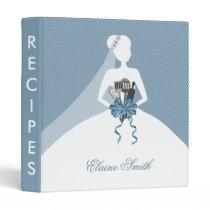 Blue Kitchen Bridal shower Recipe Folder