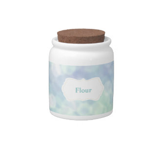 Blue Kitchen canister: Flour Jar Candy Dish