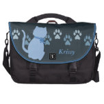 Blue Kitty Commuter Bag