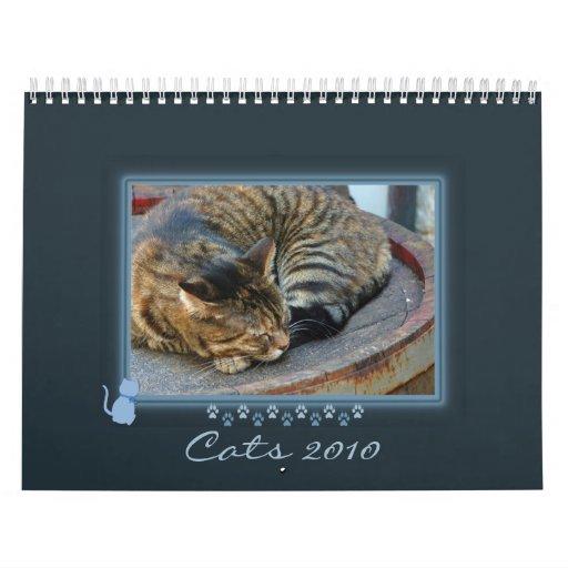 Blue Kitty Frame Photo Calendar