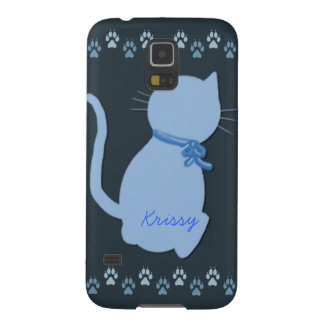 Blue Kitty Galaxy S5 Cover