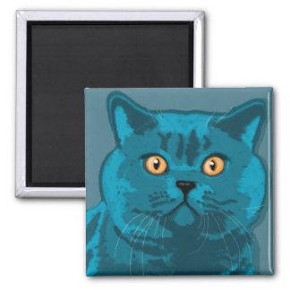 Blue kitty magnet