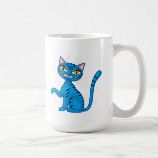 Blue Kitty Coffee Mugs