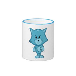 Blue Kitty Mug