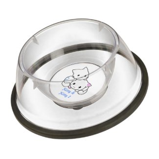 Blue Kitty & Pink Kitty Pet Bowl
