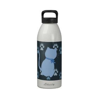 Blue Kitty Reusable Water Bottle