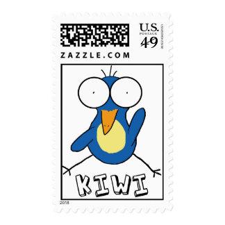 Blue Kiwi Stamp