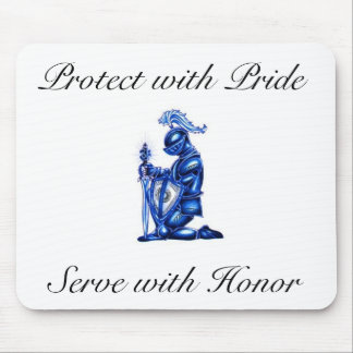 Blue Knight mouse pads