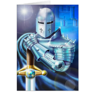 Blue Knight Note Card
