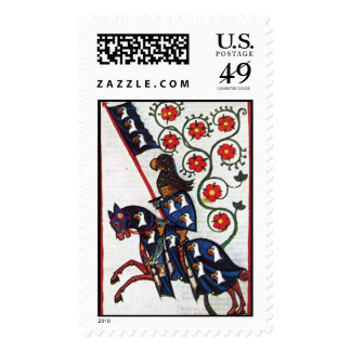 BLUE KNIGHT ON HORSEBACK POSTAGE