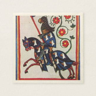 BLUE KNIGHT ON HORSEBACK DISPOSABLE NAPKINS