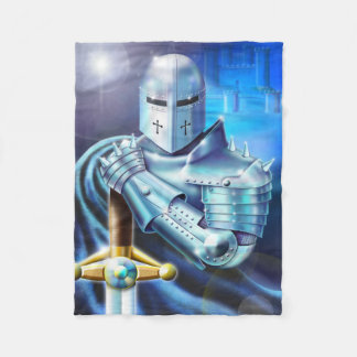 Blue Knight Small Fleece Blanket