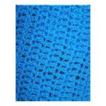 Blue Knit Crochet Afghan Pattern Scrapbooking Letterhead Template