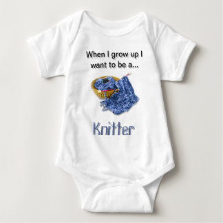 Blue Knitter - When I Grow Up I want to be... Tee Shirt
