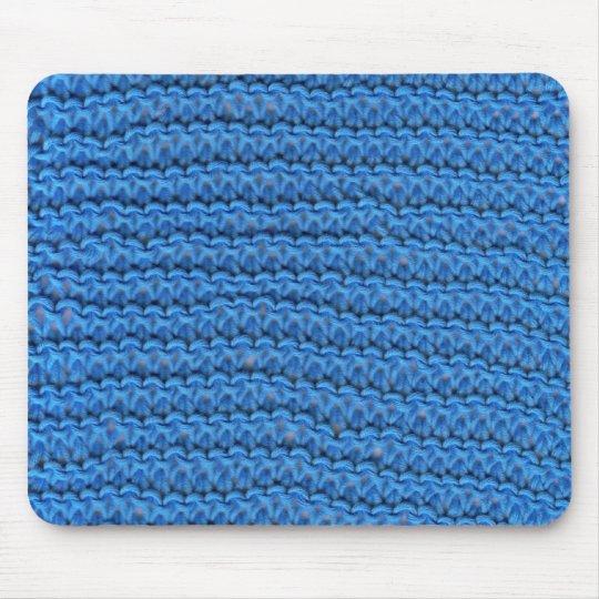 blue knitting mouse mat