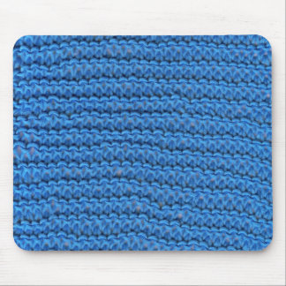blue knitting mouse mat mouse pad