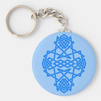 Blue Knot Keychain