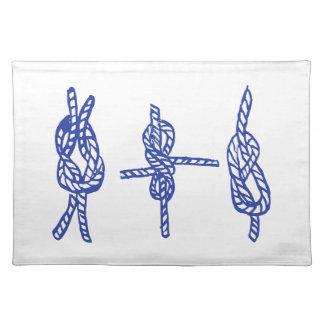 Blue Knots Cloth Placemat