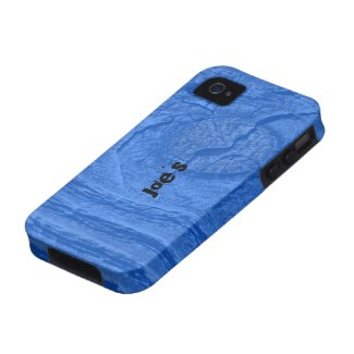 Blue Knotty Wood iPhone 4 Cases