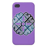Blue Knotwork Flower Case For iPhone 4