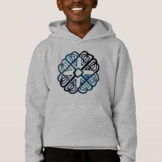 Blue Knotwork Flower Hoodie