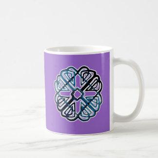 Blue Knotwork Flower Coffee Mugs