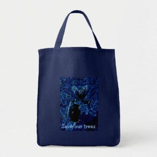 Blue Koala Art Save Trees Tote Bag