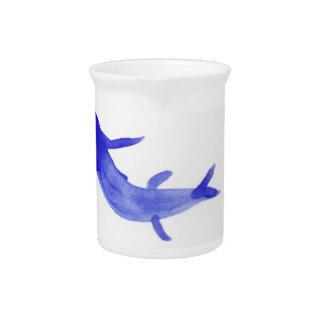 Blue Koi Fish Beverage Pitchers