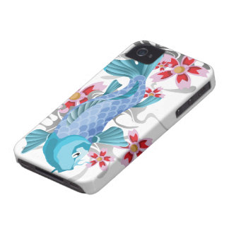 Blue Koi Fish iPhone 4 Case-Mate Cases