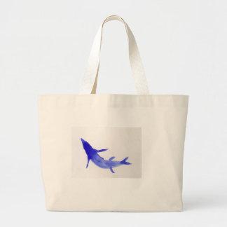 Blue Koi Fish Large Tote Bag