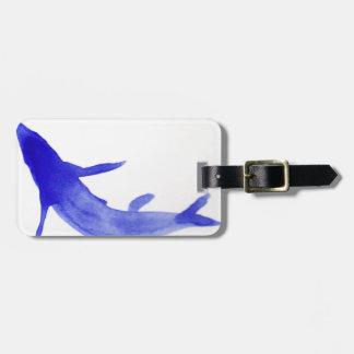 Blue Koi Fish Luggage Tag