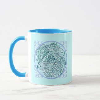 Blue Koi Fish Mug