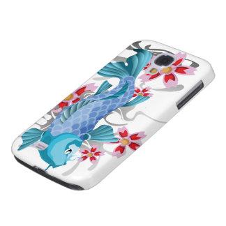 Blue Koi Fish Samsung Galaxy S4 Cover
