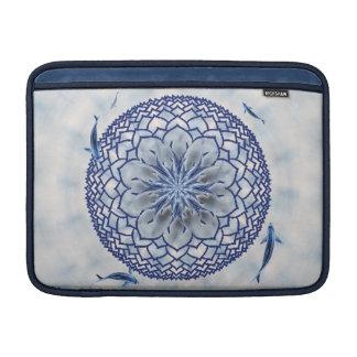 Blue Koi Lotus Mandala MacBook Soft Sleeve