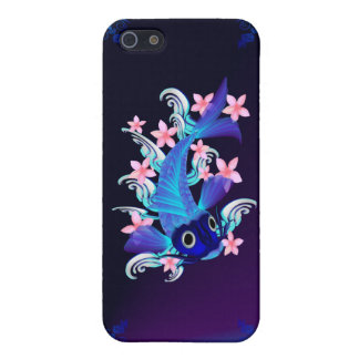 Blue Koi-Pink Flowers iPad/iPhone/iPod Cases iPhone 5 Covers