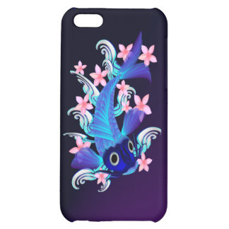 Blue Koi-Pink Flowers iPad/iPhone/iPod Cases iPhone 5C Covers