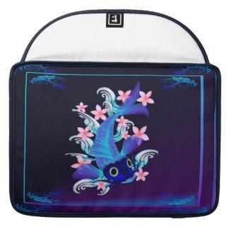 Blue Koi-Pink Flowers Sleeve For MacBooks