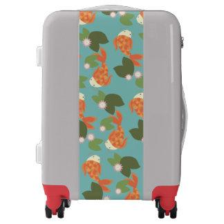 Blue Koi Pond Luggage