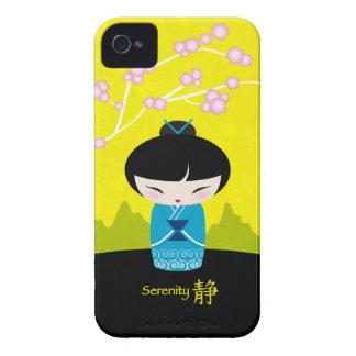 Blue kokeshi - Serenity - blackberry case