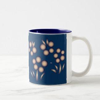 Blue Kokeshi Triplet Kimono Design Mug