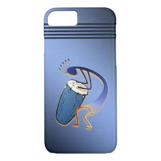 Blue Kokopelli with Drum iPhone 8/7 Case