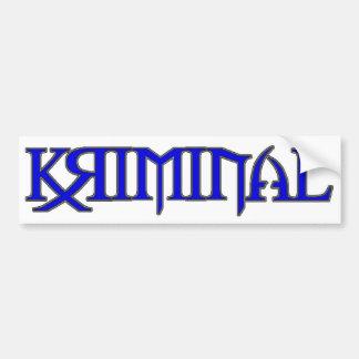 blue Kriminal Sticker Bumper Sticker