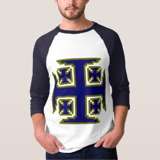 Blue raglan t shirts shirt designs zazzle for 3 4 sleeve shirt template