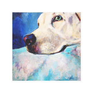 Blue Lab Gallery Wrapped Canvas