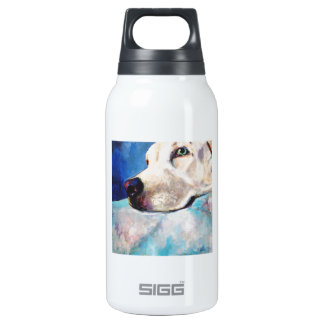 Blue Lab Thermos Water Bottle