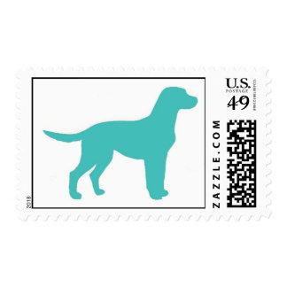 Blue Labrador Postage Stamp